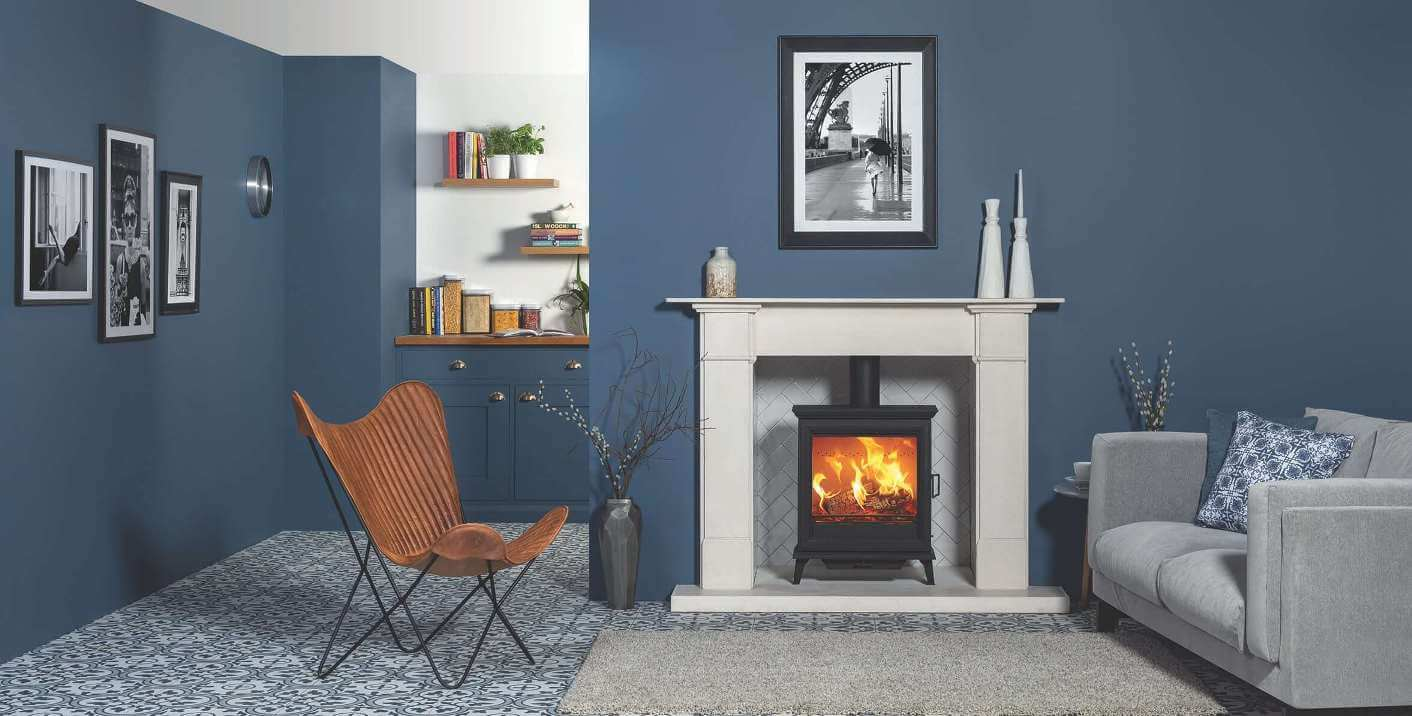 Sheraton-5-Woodburning-With-Claremont-Mantle-In-Limestone-And-Matching-Hearth